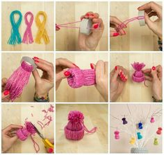christmas yarn crafts for kids / christmas yarn crafts & christmas yarn crafts for kids & christmas yarn crafts decoration Simple Christmas, Kids Christmas, Christmas Ornaments, Christmas Tables, Nordic Christmas, Modern Christmas, Christmas Yarn, Pom Pom Crafts, Yarn Crafts