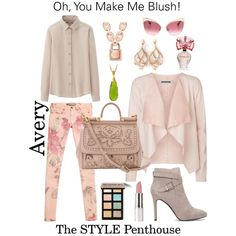 A fashion look from February 2015 featuring Uniqlo blouses, Vero Moda blazers and GUESS leggings. Browse and shop related looks.