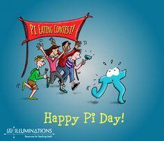 Pi Math, Math Teacher, Teaching Math, Teaching Ideas, Math Memes, Math Humor, Math Comics, Wacky Holidays, Happy Pi Day