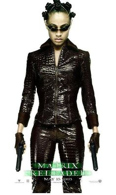 Official theatrical movie poster ( of for The Matrix Reloaded Starring Keanu Reeves, Carrie-Anne Moss, Laurence Fishburne, Helmut Bakaitis The Matrix Movie, Matrix Film, Matrix Reloaded, Afro, Carrie Anne Moss, Cinema, Keanu Reeves, Cosplay Girls, Movies And Tv Shows