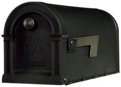 Gibraltar Standard Decorative Plastic Post-Mount Rural Mailbox, Black - New #GibraltarMailboxes