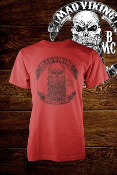 Image of Mens Mad Viking Beard Co RED Tee