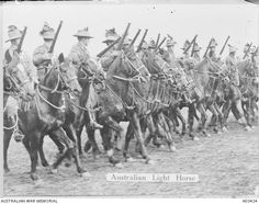 A march past of Australian Light Horsemen [A03424 | Australian War Memorial]