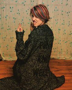 sidney hartwig, photographed by jorinde gersina, punk, pink hair, blue hair
