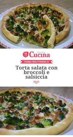 Torta salata con broccoli e salsiccia della nostra utente Stefania. Unisciti alla nostra Community ed invia le tue ricette!