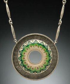 Green Persian Pendant by Kristina Logan