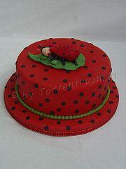 Baby Marienkäfer Torte zur Taufe Baby Co, Ladybug, Fondant, Party, Food, Rezepte, Lady Bug, Fiesta Party, Fondant Icing