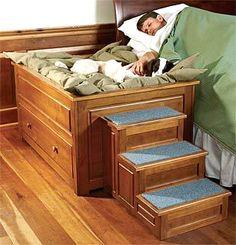 dog bed built next to mattress - Google Search