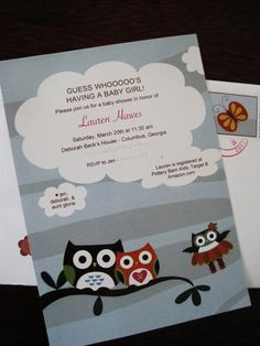 Owl Themed Baby Shower Invitations - Get The Look For Less