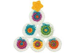 Cómo hacer un arbol de Navidad con círculos tejidos a crochet!