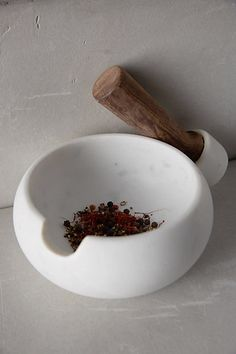 Sempre Marble Mortar & Pestle - anthropologie.com