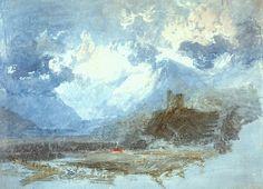Dolbadern Castle, 1799 - Tate Gallery, London, UK William Turner