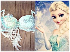 Frozen Elsa Rave Bra by TheLoveShackk on Etsy
