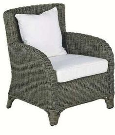 JIL - RHODE ISLAND Armchair Outdoor Chairs, Outdoor Furniture, Outdoor Decor, Wicker Sofa, 3 Seater Sofa, Rhode Island, Ottoman, Armchair, Art Deco