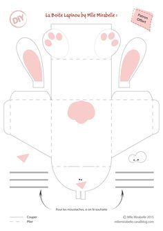 DIY Table Decoration: Your Easter Bunny Box [Gabarit Offert] – Miss Mira … Bunny Crafts, Easter Crafts For Kids, Diy For Kids, Easter Games, Easter Activities, Children Activities, Diy And Crafts, Paper Crafts, Diy Ostern