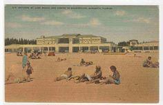 Lido Bathing Beach Casino Sarasota Florida postcard