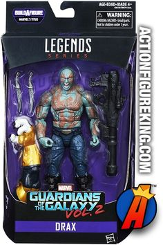 #MarvelLegends #GOTG #DRAX the Destroyer part of the #TITUS Build-A-Figure Series by #HASBRO. See full details here plus quickly and easily search thousands of new and vintage #Collectibles #Toys #ActionFigures and more here… http://actionfigureking.com/list-3/hasbro/marvel-legends/marvel-legends-guardians-of-the-galaxy-drax-titus-build-a-figure-series