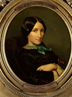 Hippolyte Flandrin : Portrait of the mother of Dr. Bordier (1852). Paintings of the Museums of France: GRENOBLE