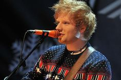 Ed rocking an awesome sweater.
