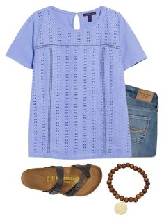 """""""Untitled #228"""" by msherer on Polyvore featuring Birkenstock, Abercrombie & Fitch, Violeta by Mango and Lisa Stewart"""