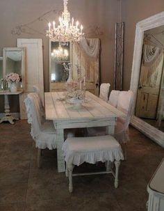 shabby chic stil esszimmer kronleuchter sitzbank gartenpalette pinterest esszimmer. Black Bedroom Furniture Sets. Home Design Ideas