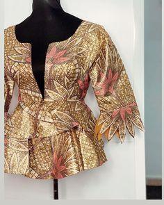 Bespoke Tailoring, Ankara Styles, Printed Blouse, Blouses, Gowns, Blazer, Jackets, Instagram, Women
