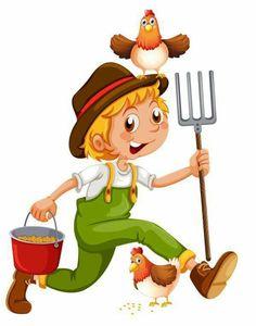 Cartoon Chicken Illustration : images, photos et images vectorielles de stock