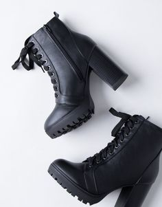 388d84e689cc Walk the Line Boots – 2020AVE High Heel Combat Boots, Black Heel Boots, Cute