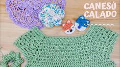 Crochet flap for dress 6 months Crochet Toddler Dress, Crochet Baby Dress Pattern, Crochet Yoke, Crochet Collar, Baby Girl Crochet, Crochet Blouse, Crochet Granny, Crochet For Kids, Crochet Stitches