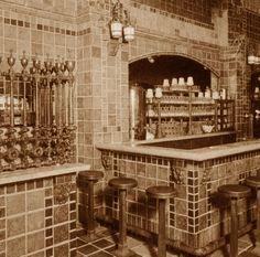 Original Dutch Chocolate Shoppe in LA with Batchelder tiles
