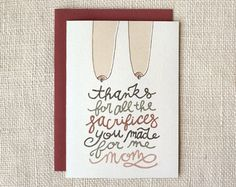 sacrifices mother's day card | Wit & Whistle