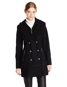 Kensie Women's Double Breasted Hooded Coat, Black, X-Small kensie http://www.amazon.com/dp/B00LD0U4DE/ref=cm_sw_r_pi_dp_astqub1J7B303