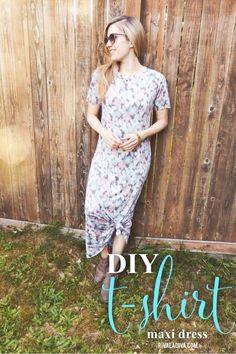 DIY T-Shirt Maxi Dress - Riva la Diva