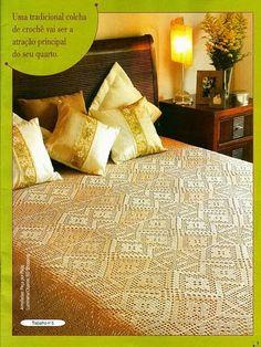 art: Bedspread crochet