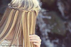 Waterfall braid with straight hair Best Wedding Hairstyles, Summer Hairstyles, Pretty Hairstyles, Straight Hairstyles, Braided Hairstyles, Perfect Hairstyle, Romantic Hairstyles, Hairdos, Updos