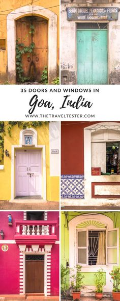 Follow The Travel Tester on a walking tour of the Latin Quarter in Panjim, Goa, India and discover some pretty incredible doors & windows.