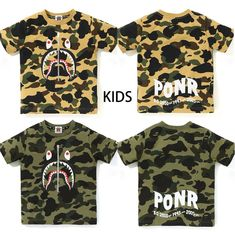 c1ef639d (eBay Sponsored) A BATHING APE BAPE KIDS 1ST CAMO SHARK TEE 2colors From  Japan