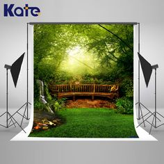 (29.99$)  Watch more here - http://aiqc4.worlditems.win/all/product.php?id=32801274343 - Kate Spring Photography Backdrops Forest Background Green Tree Background Multi-size Can Washed Background for Photos studio