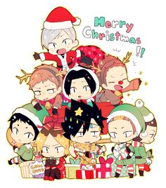 nekoma, merry christmas, http://www.pixiv.net/member_illust.php?mode=manga&illust_id=49006563