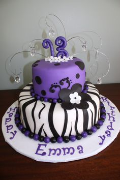 13th Birthday - Everything is made with fondant, besides the wires & crystals.