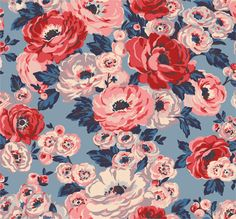 Worth Bunch   An abundance of velvety blooms make up this sophisticated floral.  An abundance of velvety, richly-coloured poppies, ranunculus and wild roses in a loose natural layout make for a sophisticated full bloom floral   Cath Kidston AW16  