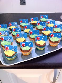 What an awesome way to celebrate Australia Day! A cupcake with the Australian Flag!