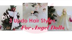 Christmas Tree Toppers, Christmas Decorations, Christmas Ornaments, Holiday Decor, Wings Etc, Fairy Dolls, Diy Doll, Diy Videos, Embroidery Thread