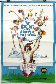 THE DOG WHO STOPPED THE WAR - CEDRIC JOURDE - ORIGINAL USA 1SHT MOVIE POSTER