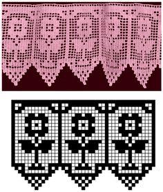 MIRIA CROCHÊS E PINTURAS: BARRADOS DE CROCHÊ FLORAIS N°180