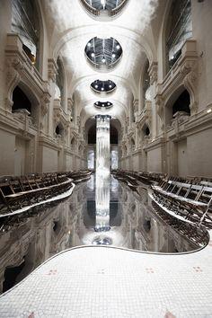 A classic setting melds with futuristic elements for Berluti Menswear FW15. Location- Musée des Arts Décoratifs in Paris. Staging done by Bureau Betak.
