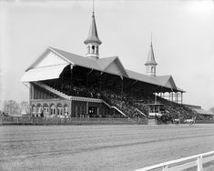 1901 KY Derby at Churchill Downs Photo - nice shot of twin spires #kyderby #vintagephotos #churchilldowns #louisville