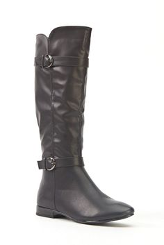 Womens Ladies Black Faux Leather Low Block Heel Knee High Boots Size 4,5,6,8 New  Click On Link To Visit My Ebay Shop http://stores.ebay.co.uk/all-about-feet  Useful Info:  - Standard Size - Standard Fit - By Super Mode - Black In Colour - Heel Height: 0.8 Inches - Inner Side Zip Fastening - Silver Buckles  - Synthetic Leather Upper - Faux Fur Interior #boots #black #kneehighboots #kneeboots #lowheel #blockheel #buckles #fauxleather #winter #zip #fashion #footwear #forsale #womens #ladies…