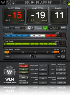 The Waves WLM Plus Loudness Meter plugin provides precision loudness measurement, metering, correction and adjustment tools for broadcast, movie trailers, games, packaged media and more.