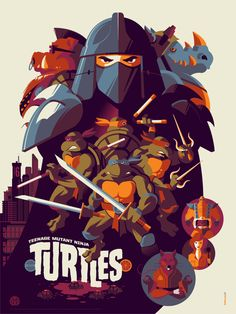 Teenage Mutant Ninja Turtles (2014) ~ Alternative Movie Poster by Tom Whalen #amusementphile